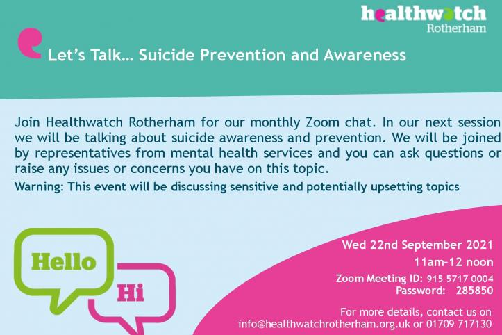 Suicide Prevention event poster