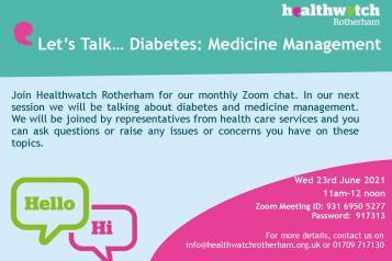 Event poster on diabetes management