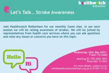 Event poster on stroke awareness