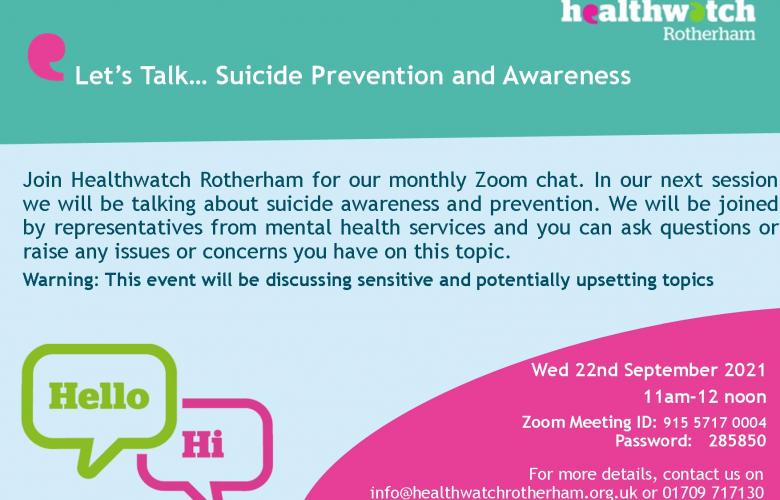 Event Poster on suicide